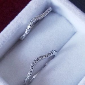 Jewelry - 2pc 925 Sterling Silver Curve Band Ring